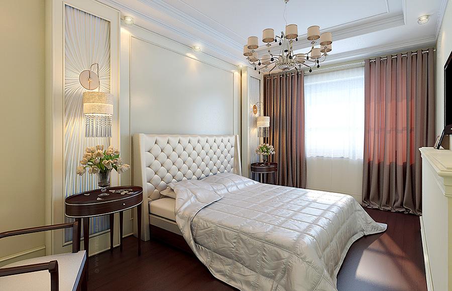 Спальня стилизованная в неоклассическом стиле и арт-деко.