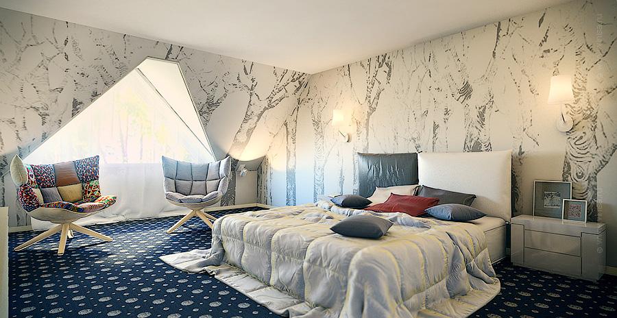 Дизайн интерьера спальни в гостевом доме