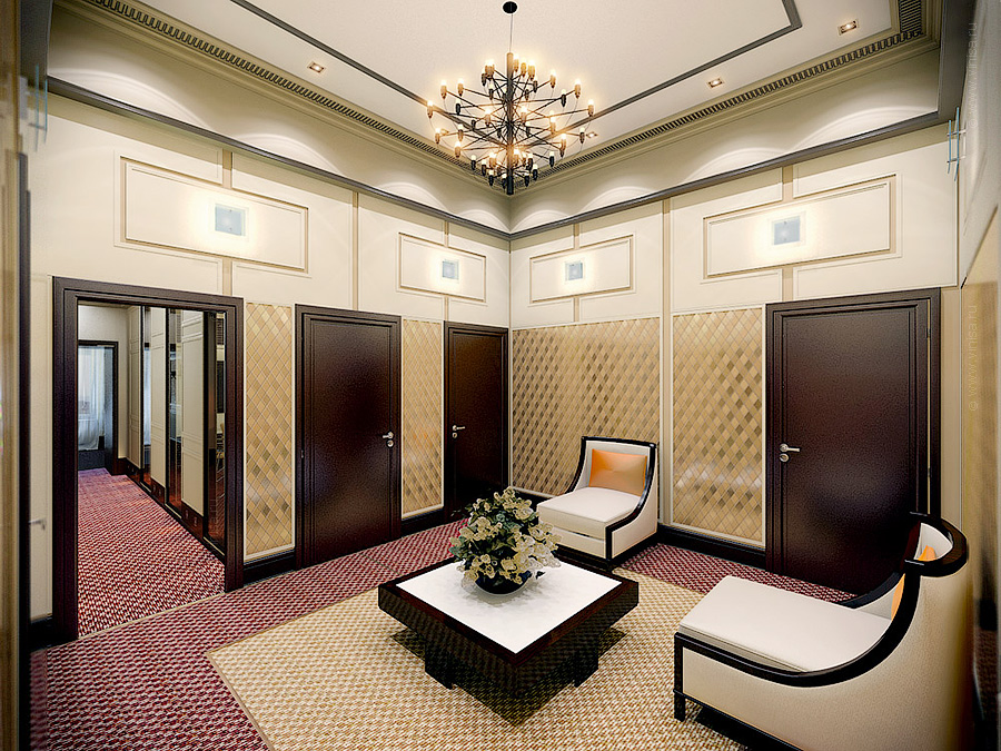 Дизайн интерьера лобби офисного помещения