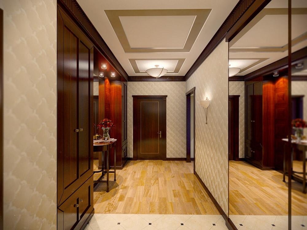 Дизайн интерьера прихожей в викторианском стиле