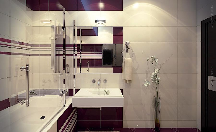 Интерьер ванной комнаты. Современный стиль.
