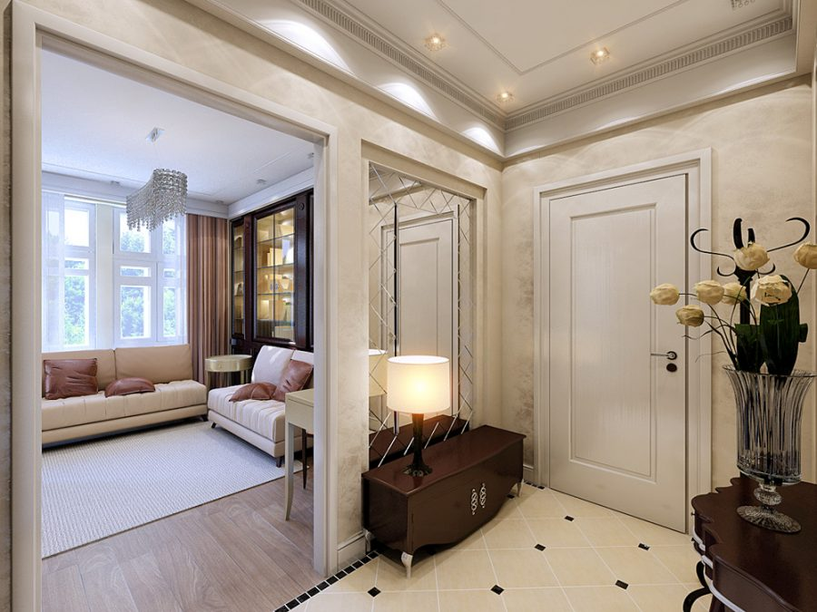Интерьер прихожей в квартире 86 кв.м.