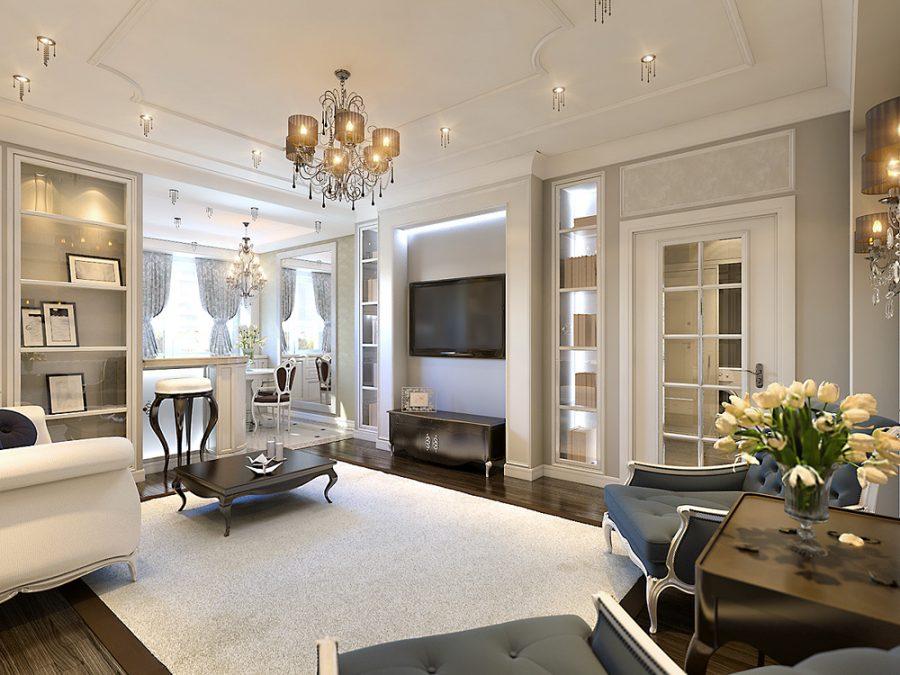Дизайн интерьера квартиры в неоклассическом стиле
